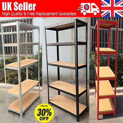 1.5/1.8M 5-Tier garage shed racking storage shelving units Max 875KG Extra Wide