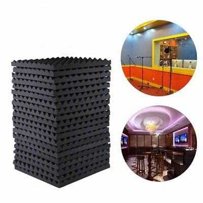 1-6Pcs Acoustic Wedge Studio Absorption Soundproofing Foam Wall Tiles Sponge