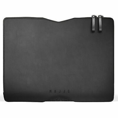 NEW Mujjo Leather Folio Case Sleeve for Apple MacBook Pro 13 Inch Laptop - Black