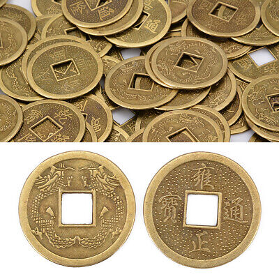 100pcs Chanceux Feng Shui Coins Chinese Ancient Fortune Ancienne Coin 2.5cm