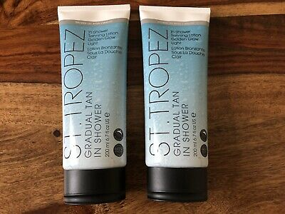 2 x ST TROPEZ In Shower Tanning Lotion Golden Glow Light *NEW* RRP £30