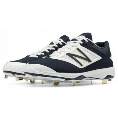 61cf26b24951 NEW Mens New Balance L4040NB3 Low Metal Baseball Cleats Navy / White Sz 16 M