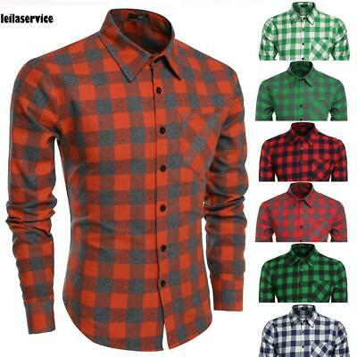 New Fashion Men Casual Turn-down Collar Long Sleeve Prints Button Shirt M0DC