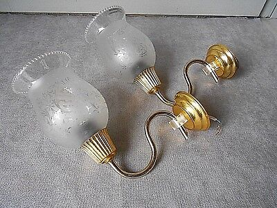 Pair vintage french gilted Wall LIGHT SCONCES