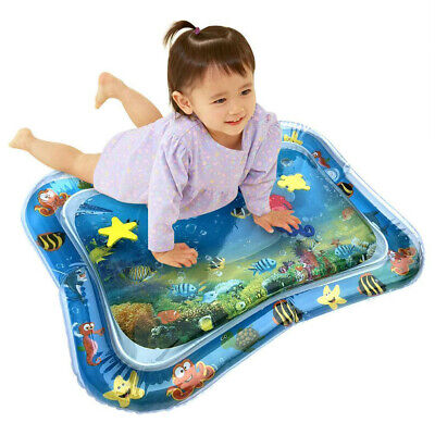 Baby Inflatable Patted Pad Water Cushion Play Mat Ocean Fish Toy Toddler Gift