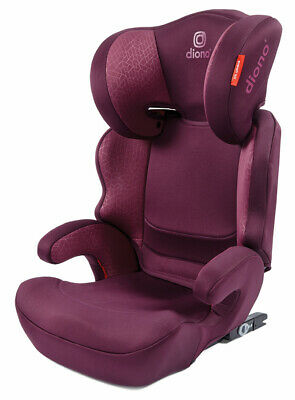 Diono Everett NXT Compact Lightweight Child Booster Car Seat Plum 40-120 Lbs NEW