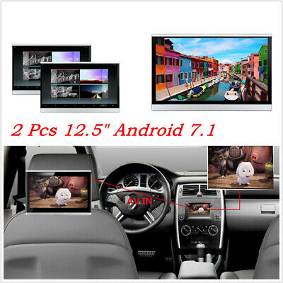 """Pair 12.5"""" Touch Screen Android 7.1 Octa-core Headrest Monitors Wifi 3G/4G HDMI"""