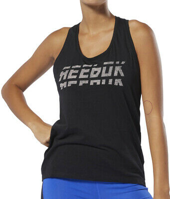 Reebok WOR Meet You There Graphic Womens Training Vest Tank Top - Black
