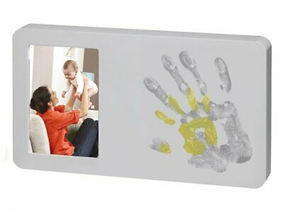 Baby Art You and Me Paint Print Frame Pastel Photo Memories Hand Prints Home