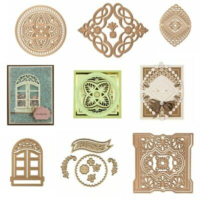 Vintage Lace Silhoutte Frame Metal Cutting Dies Stencil  Scrapbooking Embossing