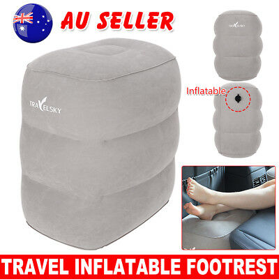 Portable Inflatable Plane Train Travel Foot Rest Pad Kids Bed Footrest Pillow AD