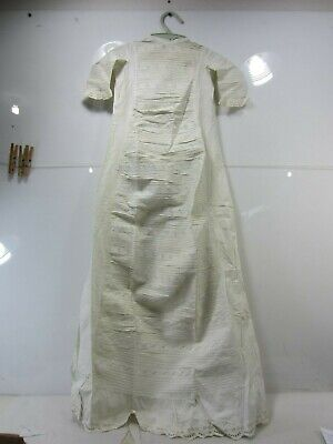 """Antique Edwardian 42"""" Long Child's Christening Gown"""