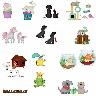 Cartoon Animals Lovely Dog Metal Cutting Dies Stencil Scrapbooking Embossing DIY