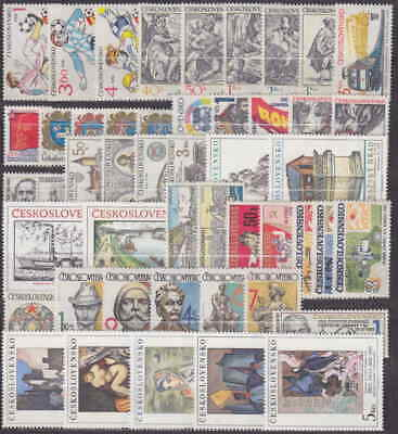 Czechoslovakia - 1982 Complete Year Set Stamps- Jahrgang - **Mnh** - Cheap !!