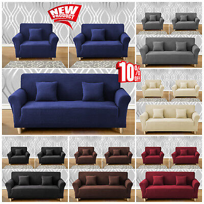 1-4Seater Elastic Stretch Sofa Slipcover Soft Pet Protector Couch Cover Washable