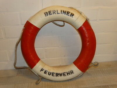 Original old rescue buoy from the Berlin Fire Department