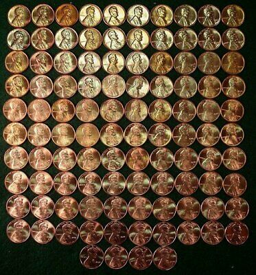 1959-2019 Lincoln Memorial Set with 139 unciculated RED P,D,S coins. 104 shown.