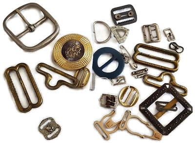 Vintage Metal Buckles Lot - Belts or Craft Projects - Rail Chief - Rhinestones