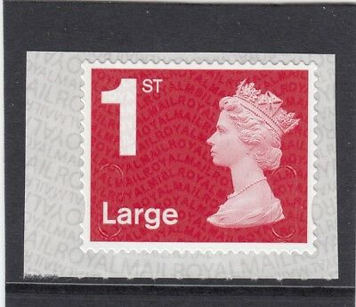 GB 2018 1st LARGE SCARLET S/ADHESIVE M18L MBIL SBP2i MNH from Business Sheet
