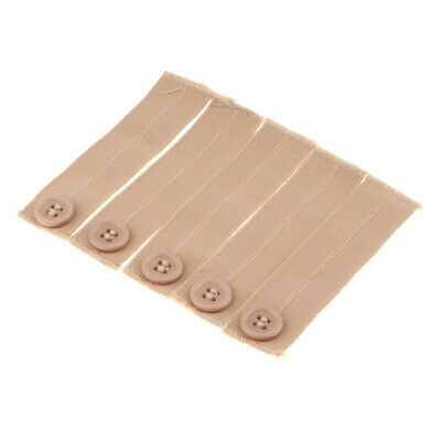 Pack of 5 Elastic Pants Waist Extende Strong Adjustable Pant Button Extender