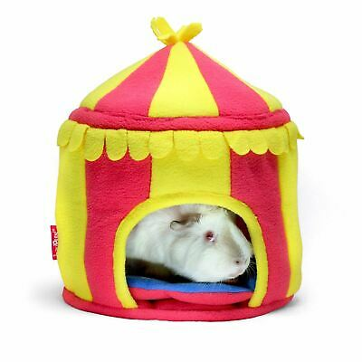 Circus Tent Hide Out House Soft Fleece Sleeping Bed Nest for Guinea Pig Hamster