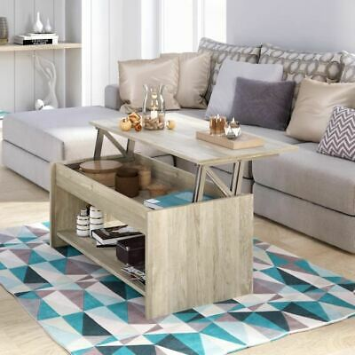 Happy Laminé Basse 100x50 Table Transformable Chene Cm Sonoma 3ARL45jq