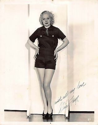 Autographed 8x10 Photograph Signed and Inscribed by Alice Faye~109007