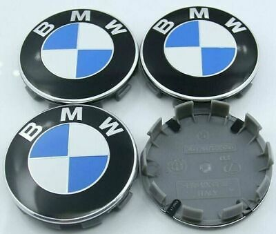 Fit 4X BMW Emblem Car Wheel Rim Center Cap Badge Hub Stickers Decal 4pcs 60mm