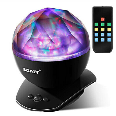Psychedelic Lamp Light Aurora Borealis Projector Remote Control Relaxing Trippy