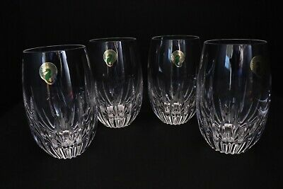 Waterford Southbridge Crystal Stemless Wine Glasses Set Of 4 Nib New