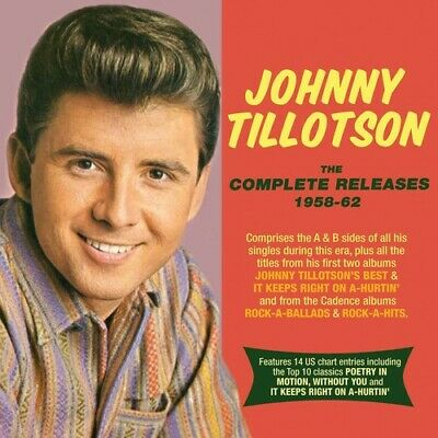 JOHNNY TILLOTSON - Complete Releases 1958-62 [New CD] - $14 69
