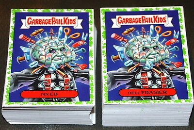 2018 Garbage Pail Kids Oh The Horror-Ible Green Puke Complete Set 200 Cards Rare