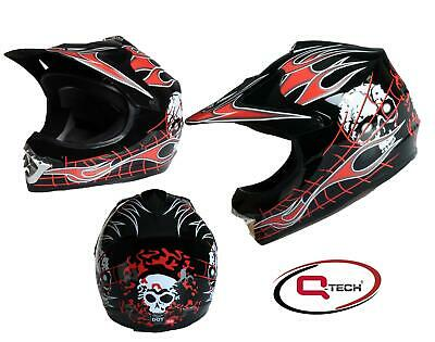 Qtech - Casque de moto-cross motif « black knight » - enfant