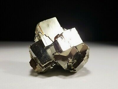 Lustrous Peruvian Gold Pyrite Crystal Cluster #3