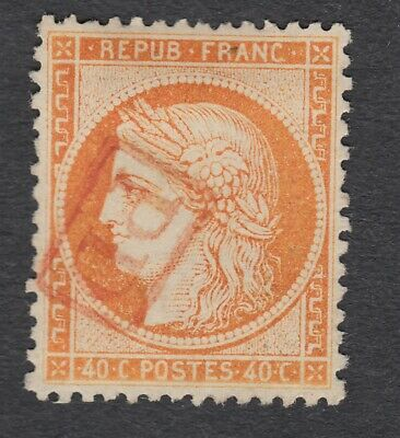 N°38 Obliteration Pd Rouge Timbre Stamp Briefmarken