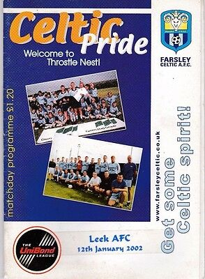 Farsley Celtic Home Programmes 1977 To Date Updated 29/3/2019