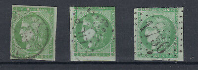 N°42 3 Exemplaires Touches Timbre Stamp Briefmarken