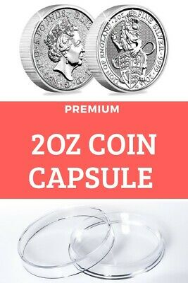 2 oz coin capsule for Silver Queens  Beasts coins (HIGH QUALITY!) Made in EU