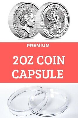 Deep Coin Capsule for 2oz ounce Silver Queens  Beasts Bullion fits Silver Beast