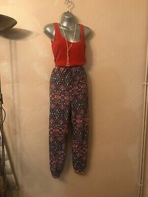 Ladies Bundle Trousers,Vest Size 16 Rust,Black & White Comfortable