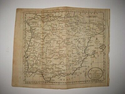 Antique 1792 Spain Portugal Old New Castile Majorca Andalusia Copperplate Map