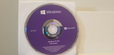 Microsoft Windows 10 Professional PRO 64 Bit FULL Version 64bit dvd