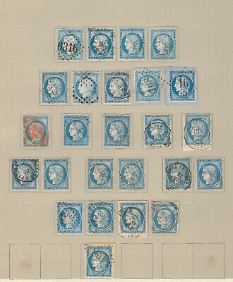 N°60A Lot Obliterations Timbre Stamp Briefmarken