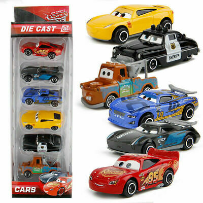 6Pcs Set Pixar Cars 3 Lightning McQueen Racer Diecast Cars Collection B-day Toy