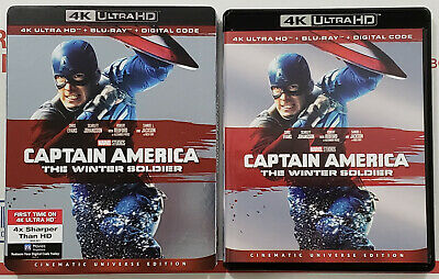 CAPTAIN AMERICA: THE WINTER SOLDIER 4K Ultra HD Blu-ray 2-Disc Set w/ Slipcover