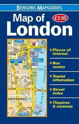 Map of London, Bensons MapGuides, Good Condition Book, ISBN 9781898929512
