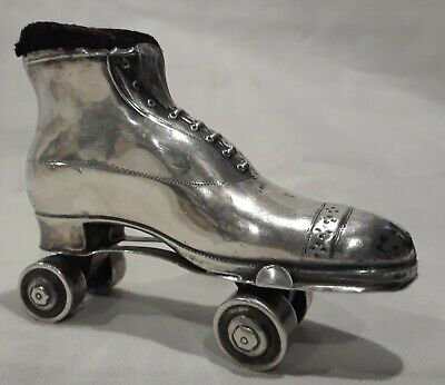 Antique English Sterling Silver Rollerskate Pin Cushion