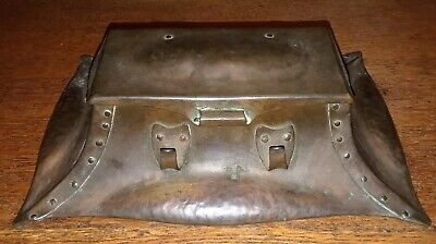Arts and Crafts Hammered Copper Double Inkwell