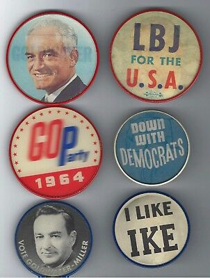 1950s to 1960s PRESIDENTIAL FLASHER CAMPAIGN BUTTON COLLECTION
