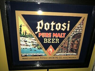 Potosi Wisconsin Sideways Beer Tavern Bar Man Cave Advertising Lighted Sign